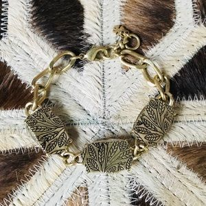 Lucky Brand Gold Link Reversible Stone Bracelet